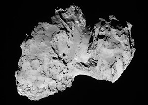 Comet 67P photographed by Rosetta