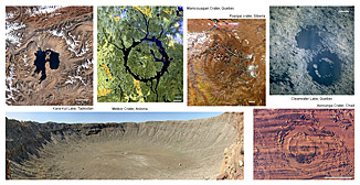 Craters on the Earth - click on image for larger view