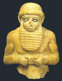 Statuette of the Late Uruk ruler corresponding to the biblical Nimrod.