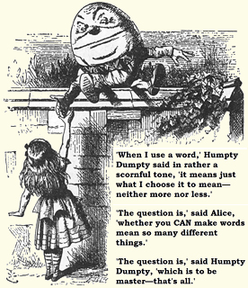 the Humpty Dumptys theory of language