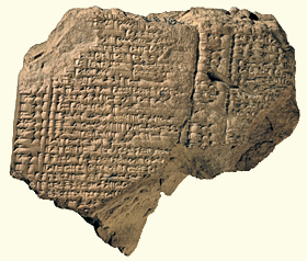 Tablet from 7th-century Babylon recording the rations given to the captive king of Judah, Jehoiachin