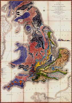 William Smiths geological map of England, Wales and part of Scotland, 1815-1817
