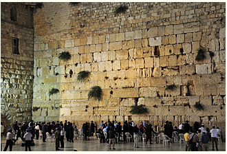 The Wailing Wall - the only remains of the last Jewish Temple