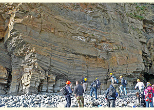 Tidal deposits, near Amroth, Wales (Carboniferous)