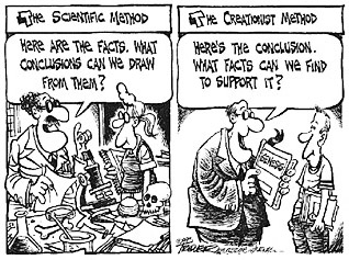 The essence of the debate as seen by an evolutionist cartoonist